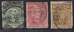 RHODESIA Scott # 119-21 Used - 1 1/2d Has Fault - Great Britain (former Colonies & Protectorates)