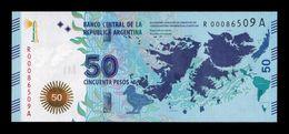 Argentina 50 Pesos 2015 Pick 362r Replacement SC UNC - Argentina
