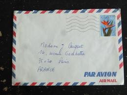 LETTRE ALGERIE ALGERIA AVEC YT 571 BEC D OISEAU FLORE FLEUR - FLAMME MUETTE DJANET - Algeria (1962-...)