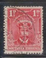 SOUTHERN RHODESIA Scott # 2 Used - KGV Definitive - Rhodésie Du Sud (...-1964)