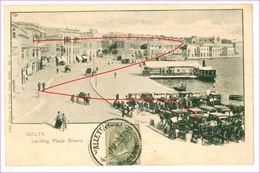 M5630 MALTA SLIEMA 1901 VIAGGIATA - Malta