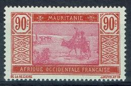 Mauritania, Camel Drivers, 90c., 1928, MH VF - Mauritania (1906-1944)