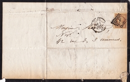 Lettre 1861 Paris Napoléon 10c Henry Dunoyer Avoué Cour Impériale De Paris - 1853-1860 Napoleon III
