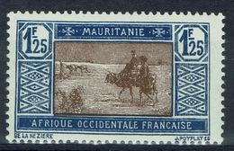 Mauritania, Camel Drivers, 1f.25 1928, MH VF - Mauritania (1906-1944)