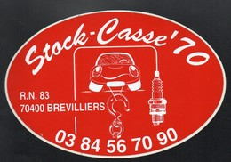 STOCK CASSE 70  70400 BREVILLIERS -  AUTOCOLLANT N°148 - Stickers
