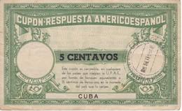 CUPON RESPUESTA AMERICOESPAÑOL DE 5 CENTAVOS DE CUBA DEL AÑO 1948 - Cuba