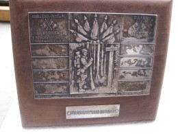 Plaque Avec Suport  Armée De Terre Et Mer. Ordre De Mobilisation Générale 1914 Et Paix 1915 - Army & War