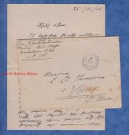Enveloppe & Lettre Du Dr KHATCHADOURIAN Médecin Aide-major Ambulance 5/20 - 1916 Ww1 Poilu Medical Santé Armenien - Documents