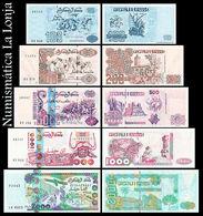Argelia Algeria Set 100 200 500 1000 2000 Dinars 1992-2011 Pick 137 138 141 142 144 UNC - Argelia
