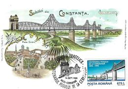 1995 - BRIDGE - CENTENNIAL OF ANGHEL SALIGNY BRIDGE FROM CERNAVODA - Maximumkarten (MC)