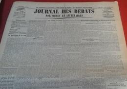 Journal Des Débats Politiques Et Littéraires N° 247 6 Septembre 1936 Guerre Espagne Résistance Irun,prise Pont Irun - Newspapers