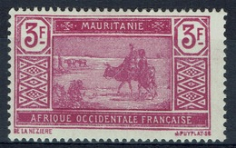 Mauritania, Camel Drivers, 3f, 1928, MH VF - Mauritania (1906-1944)