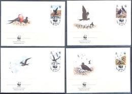 G365- Ascension Island FDC 1990 Frigate Birds. WWF. W.W.F. - FDC