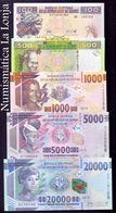 Guinea Set 100 500 1000 5000 20000 Francs 2015 Pick New SC UNC - Guinea