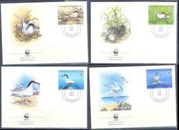 G368- Benin 1989 FDC Roseate Tern Birds. WWF. W.W.F. - FDC