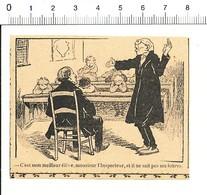 Presse 1909 Humour Education Nationale Inspecteur Classe D'école Instituteur Inspection Académique 216PF10XL - Vieux Papiers