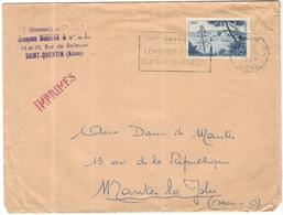 FRANCIA - France - 1956 - 10F Nice + Flamme Coton Longues Fibres élégance Qualité - Jacques Durieux - Imprimés - Viaggia - Francia