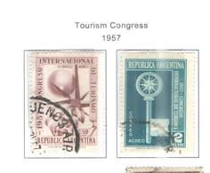 Argentina PA 1957 Congresso Turismo     Scott C 68+69  Used See Scans On Scott.Page - Posta Aerea