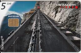 SWITZERLAND - Landscape, Swiss Mountain Transport Technology/Pilatus Cog Railway, Chip Siemens 35,  01/99, Used - Landscapes