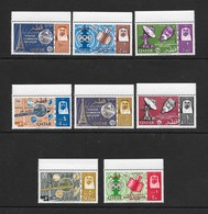 Qatar Scott 61-8    1965  ITU  VF NH Complete Set Of 8 Stamps - Qatar
