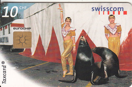 SWITZERLAND - Seals, In Between Acts, Chip GEM2.2, 04/99, Used - Phonecards