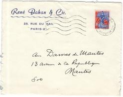 FRANCIA - France - 1960 - 0,25 Marianne à La Nef - Seul - René Dahan & Cie. - Viaggiata Da Paris Per Mantes - Storia Postale