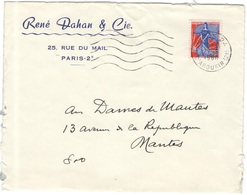 FRANCIA - France - 1960 - 0,25 Marianne à La Nef - Seul - René Dahan & Cie. - Viaggiata Da Paris Per Mantes - Francia