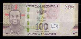 Suazilandia Swaziland 100 Emalangeni 2017 (2018) Pick New AA SC UNC - Swaziland