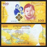 Bhutan 100 Ngultrum 2018 Pick New Comm. Royal Baby SC UNC - Bhoutan