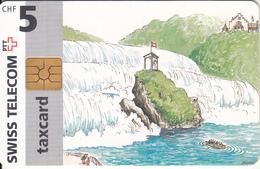 SWITZERLAND - Rhine Falls Neuhausen Near Schaffhausen, Chip GEM2.1, 12/96, Used - Switzerland