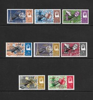 Qatar  1966  Scott 91-8 Space Renezvous Gemini 6/7   VF NH Complete Set Of 8 Stamps Overprinted In Black - Qatar