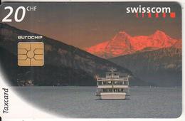 SWITZERLAND - Landscape, Connecting Switzerland/Boat, 07/98, Used - Landscapes