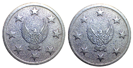 02634 GETTONE JETON TOKEN GAMING SLOT MACHINE (?) EAGLE AND STARS - Allemagne