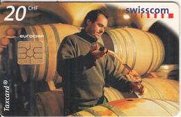 SWITZERLAND - From Vine To Wine/Sampling-Losone TI, Chip GEM2.1, 05/99, Used - Switzerland