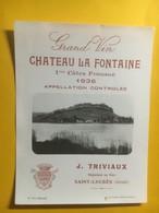 8126 - Château La Fontaine 1936 1ères Côtes Fronsac - Bordeaux