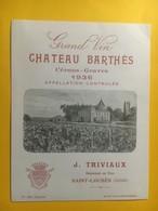 8127 - Château Barthès 1936 Cérons-Graves - Bordeaux