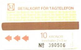 SWEDEN_SJ : T04 2x5Kr Brown 'InterCity' Typ710 USED - Zweden