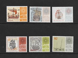 Qatar  1967  Scott 126-126E  VF NH Complete Set Of 6 Issued To Honor Famous Ships - Qatar