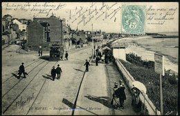 Cpa  Le Havre  Tramway Sue Le Boulevard Maritime,  Animée - Le Havre