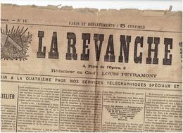 LA REVANCHE Du 2 Novembre 1886 ( Liste Des  Officiers Tués Durant Le Siege De Paris) - Newspapers