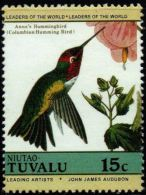 Tuvalu-Niutao Columbian Humming Bird 1 Value MNH - Hummingbirds