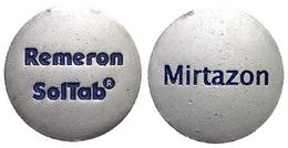 02702 GETTONE JETON TOKEN ADVERTISING DRUGS CADDY MIRTAZON REMERON SOLTAB - United Kingdom