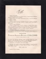 BLANKENBERGHE François-Augustin COLCOMB Paris 1855-1913 Famille URBAIN POIGNANT CHOUILLOU Blankenberg - Obituary Notices