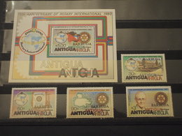 BARBUDA - 1980 ROTARY  4 VALORI + BF - NUOVI(++) - Antigua E Barbuda (1981-...)