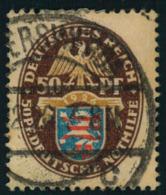 1926, 50 Pfg. Nothilfe Fat Voll Gestempelt. - Germany