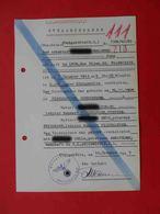 KZ Lager AUSCHWITZ 1943 Genuine Document. Judaica. #2 - Documents Historiques