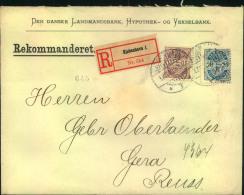 1903, Registered Letter Franked By 15 And 20 Öre Coat Of Arms From KJOBENHAVN - Non Classés