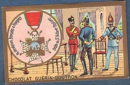 Chromo Chocolat Guerin-Boutron Décorations Françaises Et étrangères Ordre De Saint Hubert Bavière Duc De Juliers Et Berg - Guerin Boutron