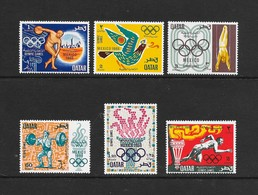 Qatar  1968  Scott  140-5  VF NH Complete Set Of 6 Issued For The Mexico Olympic Games - Qatar