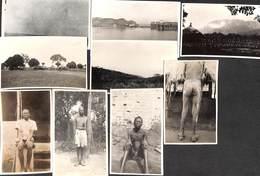 Afrique - Lot 9 Cartes Photo (animée, Maladie ? Scarifications ?, Paysages Divers.....) - Postcards